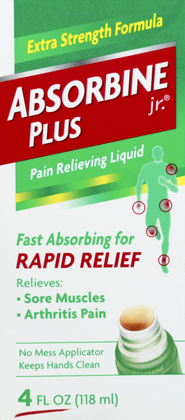 Absorbine Jr. Pain Relieving Liquid, Extra Strength Formula
