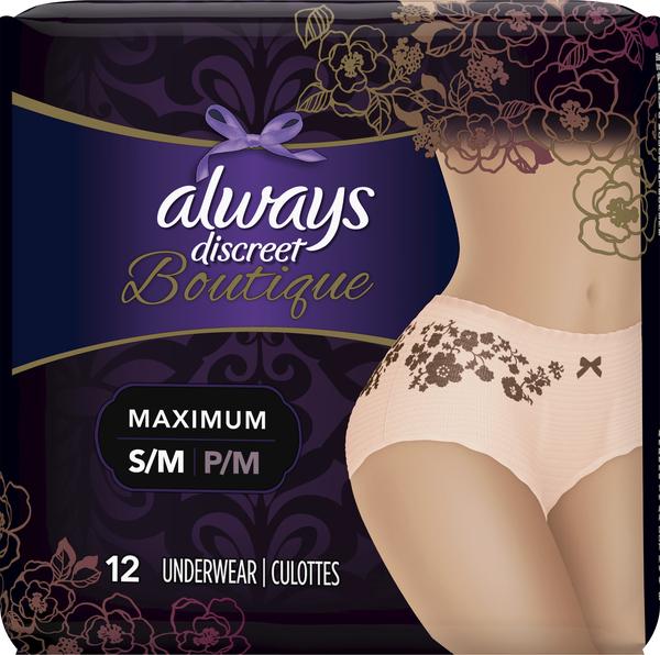 Always Underwear, Boutique, Maximum, S/M