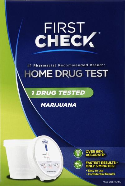 First Check Home Drug Test, Marijuana