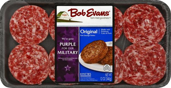 Bob Evans Pork Sausage, Patties, Original