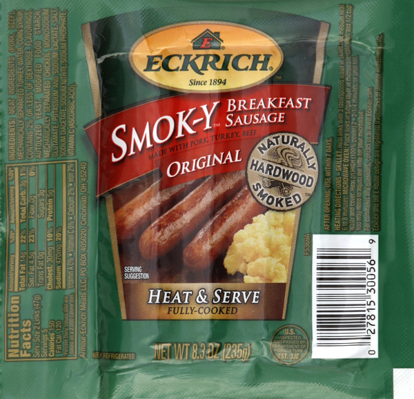 Eckrich Breakfast Sausage, Original