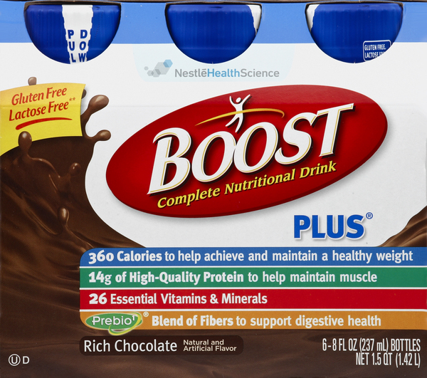 Boost Nutritional Drink, Complete, Rich Chocolate