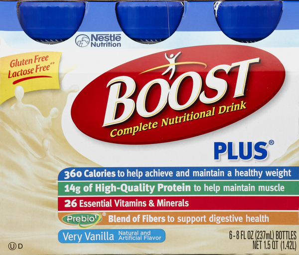 Boost Nutritional Drink, Complete, Very Vanilla