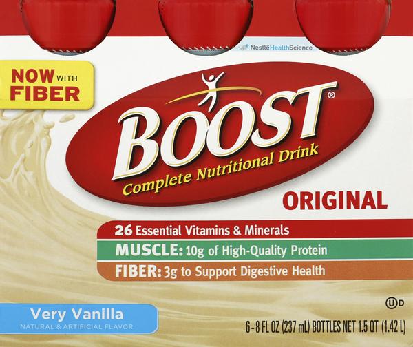 Boost Nutritional Drink, Complete, Original, Very Vanilla