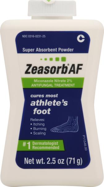 Zeasorb Antifungal Treatment, Super Absorbent Powder, Athlete's Foot