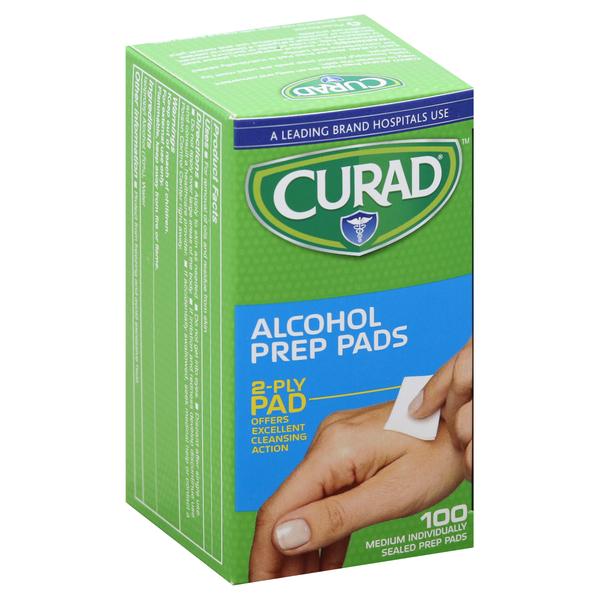 CURAD Prep Pads, Alcohol, Medium, 2-Ply