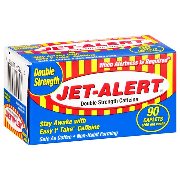 Jet Alert Caffeine, Double Strength, 200 mg, Caplets