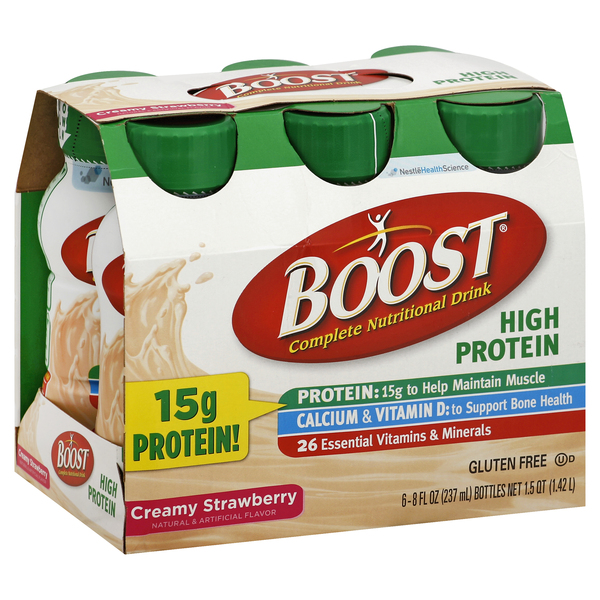 Boost Nutritional Drink, Complete, Creamy Strawberry